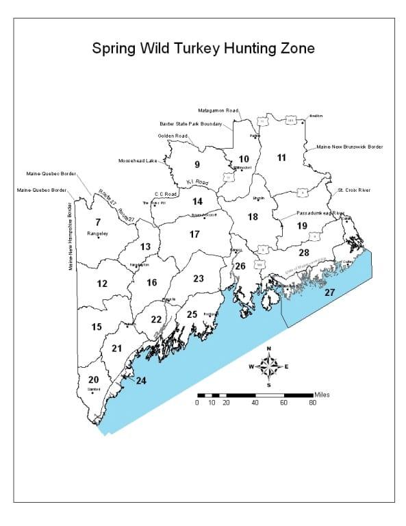 Maine spring turkey zones